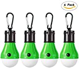 4 Pack LED Camping Lantern Portable Flashlight 3 Modes Lamp for Indoor and Outdoor Decoration Backpacking Camping Fishing Gear Tent Bulb Courtyard Emergency Light Battery Powered