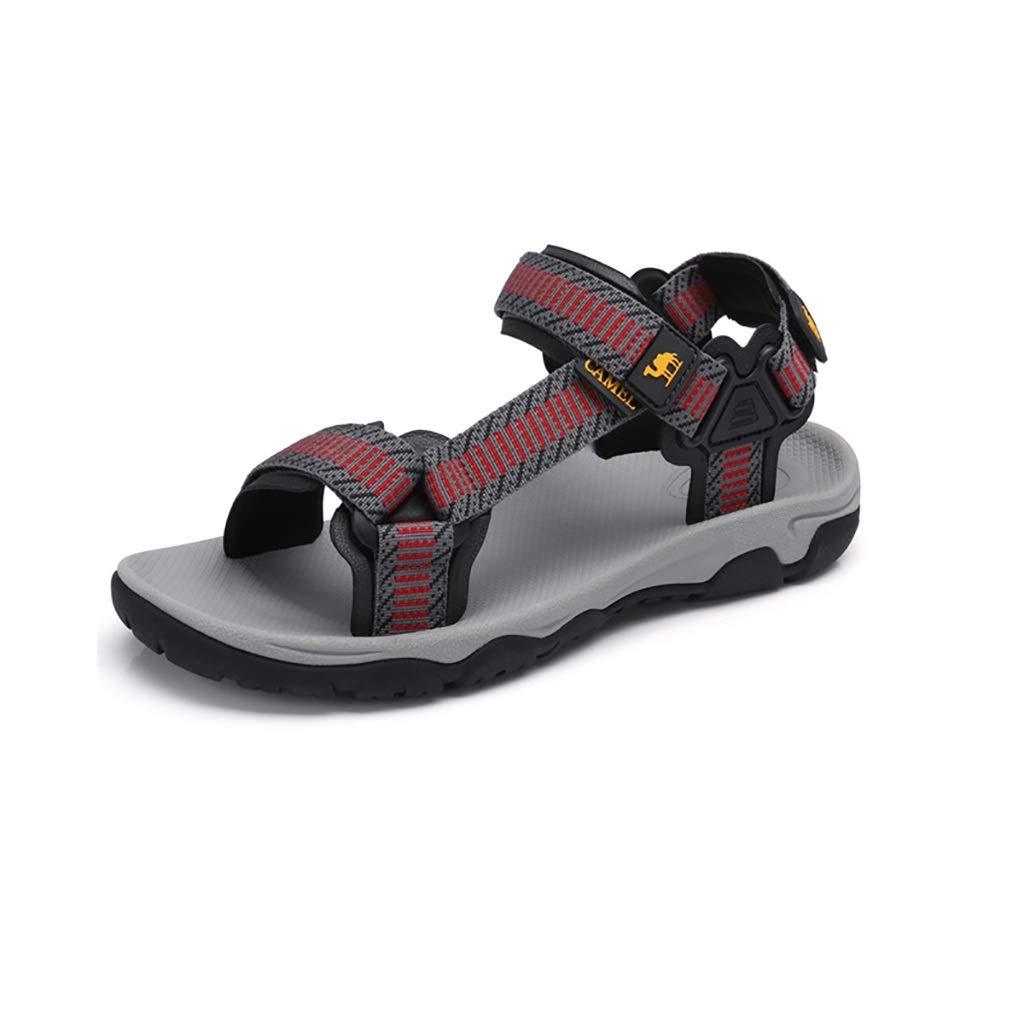Herrensandalen Stoffklettverschlüsse Stoffklettverschlüsse Stoffklettverschlüsse tragen Freizeitschuhe, rutschfeste wasserabweisende Sandalen für Herren, MD-Haftschuhe tragen elastische Sandalen, leichte atmungsaktive Strandschuhe für den Somme  58e953