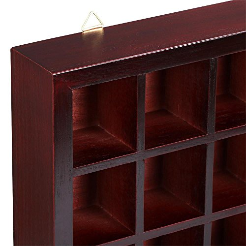 Storage Wooden Display Cabinet Modern Shelves Wall Glass Case Box Collectibles with ebook by MRT SUPPLY (Image #6)