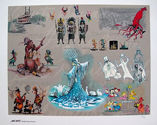 Leos Coffers Artwork by Disney Marc Davis Disneyland Rides Limited Edition Giclee Print. After The Original Painting or Drawing. Animation Concept Art Paper 16.5 Inches X 20 - Animation Original Drawing