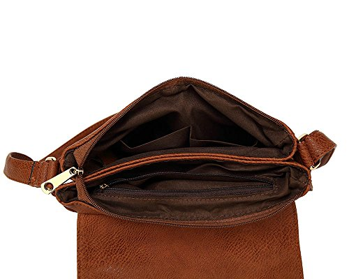 Femme À Craze Style Porter 1 London brown L'épaule Sac Pour IqqwO4t