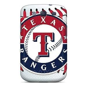 New Tpu Hard Case Premium Galaxy S3 Skin Case Cover(texas Rangers)
