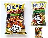 Boy Bawang Cornick Variety Bundle, 3.5 oz (Pack of 6) includes 2-Bags Hot Garlic Flavor + 2-Bags Original Flavor + 2-Bags Lechon Manok Flavor