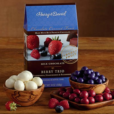 Milk Chocolate-Covered Berry Trio - Gift Baskets & Fruit Baskets - Harry and David (Fruit Baskets David And Harry)