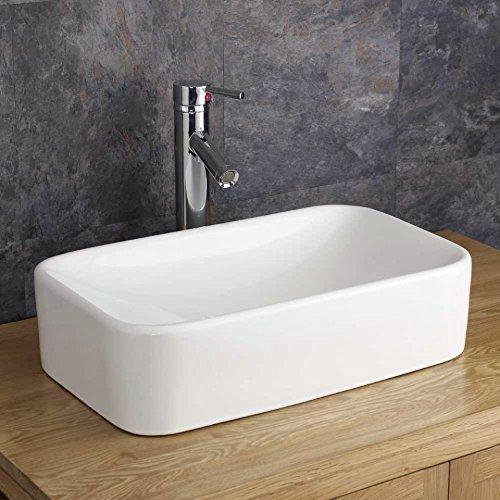 Clickbasin Reggio 48.8cm X 29.6cm Rectangular Countertop Basin