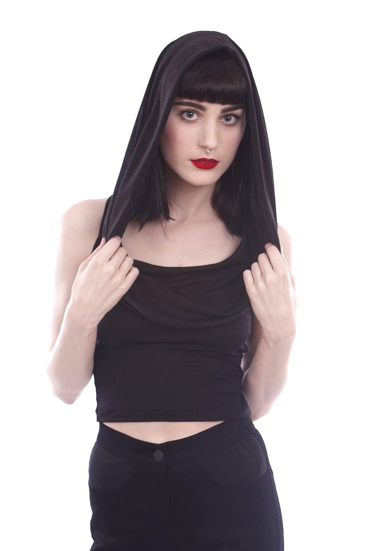 Widow by Lip Service Gothic Punk Rocker Sleeveless Tank Top Hoodie