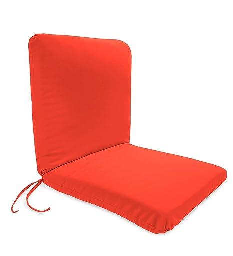 Captivating Classic Polyester Outdoor Chair Cushion With Ties, Seat 19u0027u0027 X 17u0027u0027