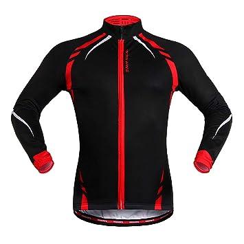 WOLFBIKE Hombres térmica de Ciclismo Jersey MTB Bicicleta ...