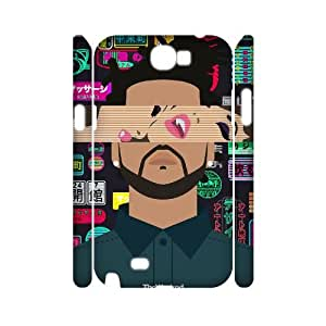 Chinese The Weeknd XO Cheap 3D Hard Back Cover Case for Samsung Galaxy Note 2 N7100,diy Chinese The Weeknd XO Cell Phone Case