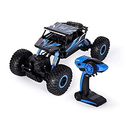 RC Car, YKS 2.4Ghz 1:18 4WD High Speed Off-Road Vehicle, Electric Remote Control Truck, RC Rock Crawler, Monster Hobby Truggy Toys: Toys & Games