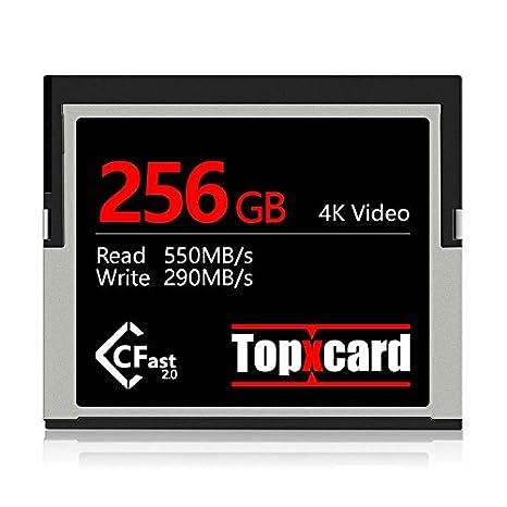 Topxcard High Speed CFast 2.0 256GB Tarjeta de Memoria ...
