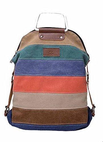 Daypacks Donna Daypack Azzurro Contrasto FBUIBD180679 Zaini Moda cucitura Tela Casuale AllhqFashion IUHqH