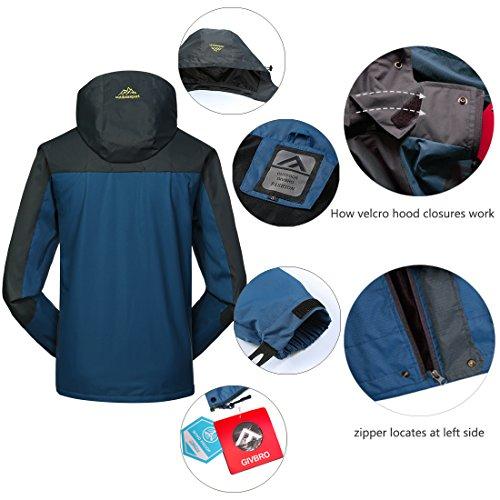 68812a47a5 Waterproof Jacket Mens Raincoats-GIVBRO New Design Outdoor Hooded ...