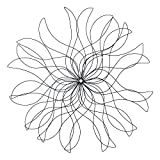 3-Foot Metal Flower Wall Decor