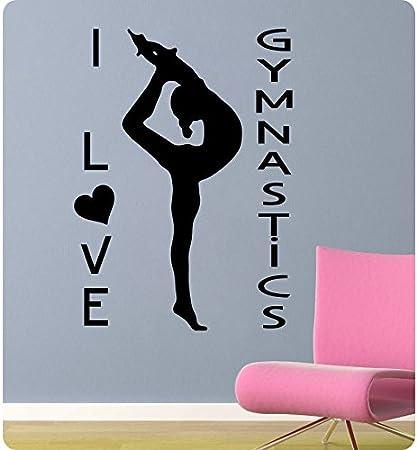 Amazoncom 32 I Love Heart Gymnastics Wall Decal Sticker Art Mural