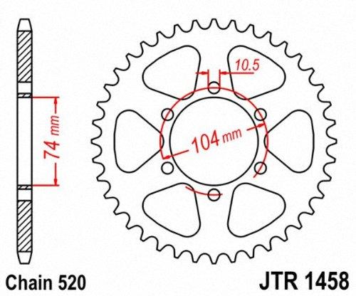 JT Sprockets JTR1458.40 40T Steel Rear Sprocket