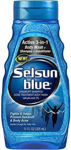 Selsun Blue Dandruff Shampoo, Acne Treatment Body Wash, 11 Ounce (Pack of 24) by Selsun Blue