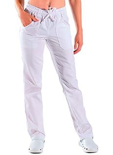 XXL Isacco Pantalone con elastico Bianco 190 gr/m² Bianco 100% Cotone