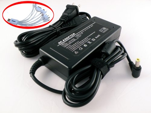 iTEKIRO 90W AC Adapter for Toshiba Satellite C855D C855D-S5100 C855D-S5103 C855D-S5105 C855D-S5106 C855D-S5109 C855D-S5110 C855D-S5135NR C855D-S5196 C855D-S5202 C855D-S5203 C855D-S5205 C855D-S5209 C855D-S5228 C855D-S5229 C855D-S5230 C855D-S5232 C855D-S5235 C855D-S5237 C855D-S5238 C855D-S5302 C855D-S5303 C855D-S5305 C855D-S5307 C855D-S5315 C855D-S5320 C855D-S5339 C855D-S5340 C855D-S5344 C855D-S5351 C855D-S5353 C855D-S5354 C855D-S5357 C855D-S5359 + iTEKIRO 10-in-1 USB Charging Cable