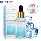 Hyaluronic Acid Serum, BREYLEE Moisturizing Face Oils with Hyaluronic Acid Anti Aging Face Serum for Deeply Hydrate & Fade Fine Lines (17ml,0.61oz)