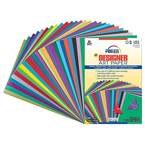 (Pacon Fadeless Acid-Free Designer Art Paper, 12 X 18 in, Assorted Color, Pack of)
