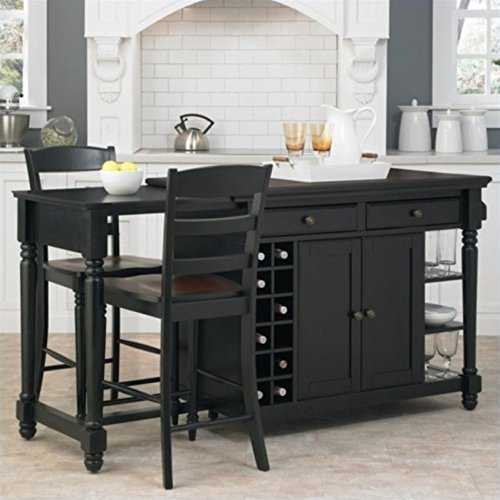 Home Styles Grand Torino Kitchen Island and Stools 3 Piece Set
