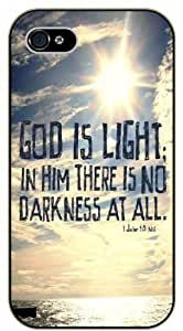 God is light and in him there is no darkness - 1 John 1:5 - Sun in the sky - Bible verse iPhone 4 / 4s black plastic case / Christian Verses