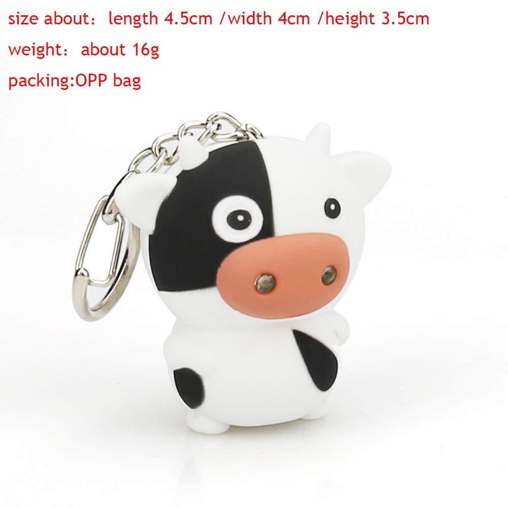 Amazon.com: Llavero con diseño de vaca de dibujos animados y ...