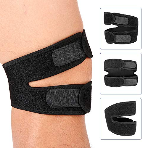 - Best Quality Hah 1PCS Knee Brace Elastic Bandage Adjustable Patella Brace Strap Protector Guard Support Knee Cap Belt for Running Jogging Hiking