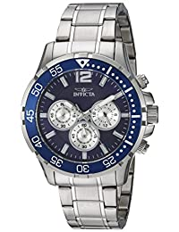 Invicta Men's 'Specialty' Quartz Stainless Steel Casual Watch, Color Silver-Toned (Model: 23664)