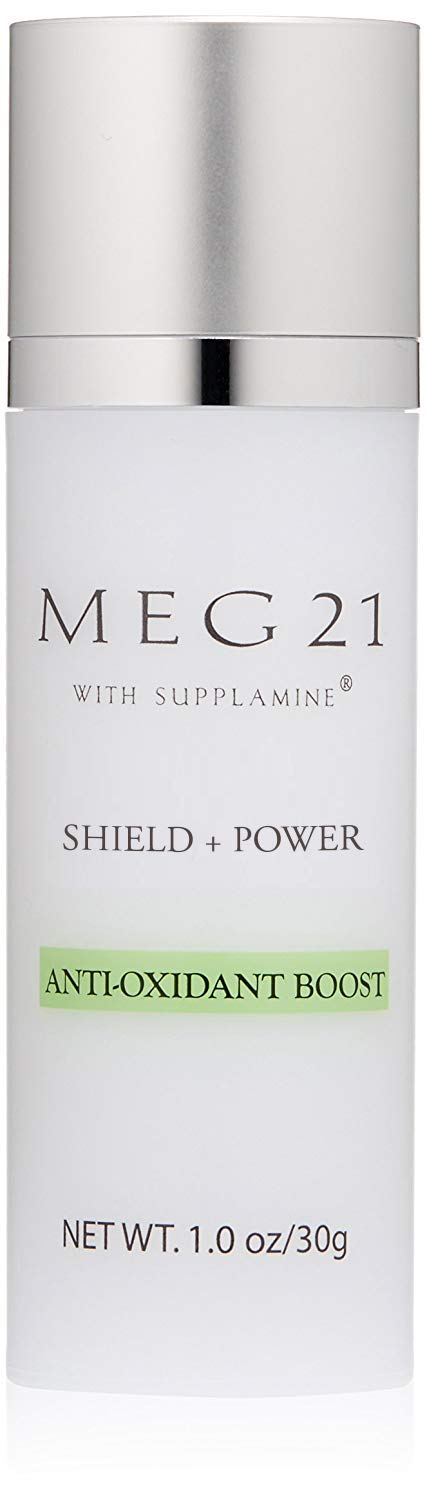 MEG 21 Anti-Oxidant Boost Cell Therapy for environmental/sun damage, skin stress from inflammation, free radicals, oxidative stress. Contains Supplamine, anti-oxidant extracts. Allergy tested. 1.0 oz