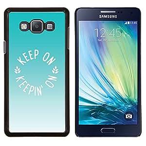 Caucho caso de Shell duro de la cubierta de accesorios de protección BY RAYDREAMMM - Samsung Galaxy A7 A7000 - helado de menta verde de verano de color marrón