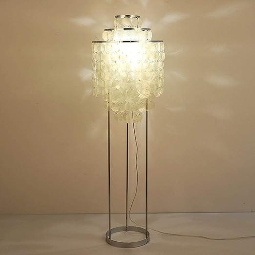 ZXUE Lámpara de pie LED Shell Lámpara de Techo cálida y Regulable ...