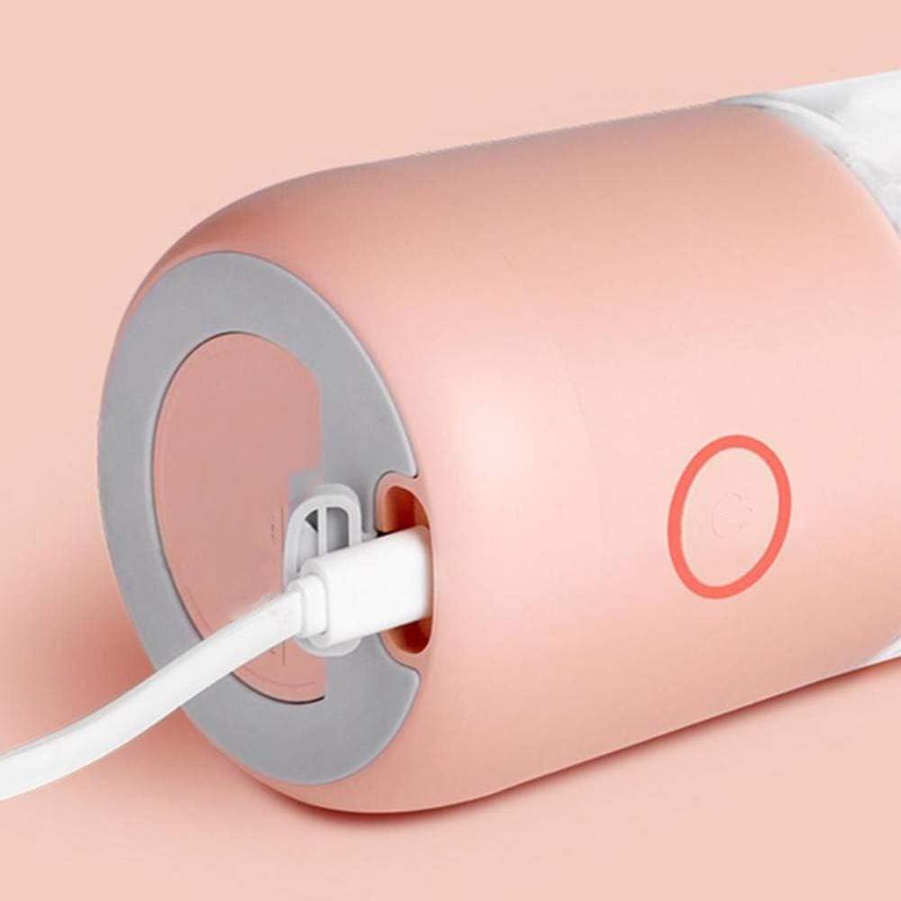 Frullatore Portatile Frullatore per Frullatore di Dimensioni Personali per Frullato E Frullatore per Frullati di Frutta, con Lama Ricaricabile USB 4 in Acciaio Inossidabile Pink