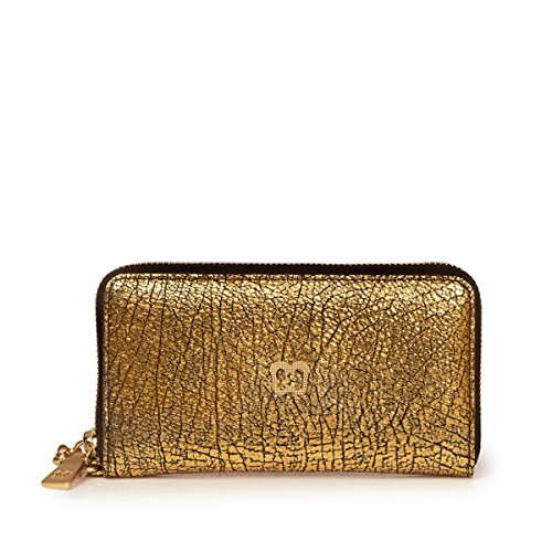 Eric Javits Luxury Fashion Designer Women's Handbag - Smartphone Wristlet - Gold by Eric Javits