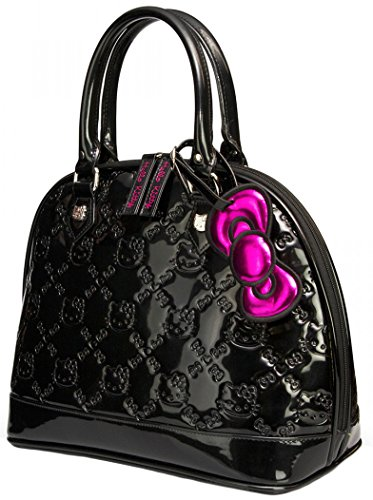 317d9e291c9f Amazon.com  Loungefly Hello Kitty Black Shiny Patent Embossed Tote Bag   Toys   Games