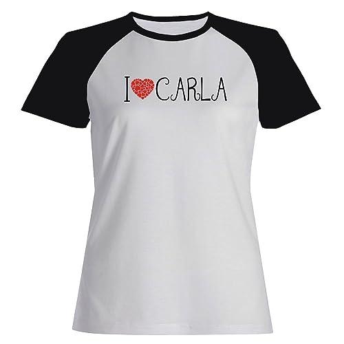 Idakoos I love Carla cool style - Nomi Femminili - Maglietta Raglan Donna