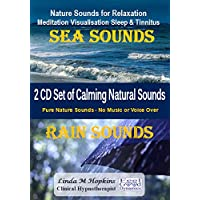 Sea Sounds & Rain Sounds CD Box Set - Nature Sounds CD for Relaxation Meditation Sleep & Tinnitus