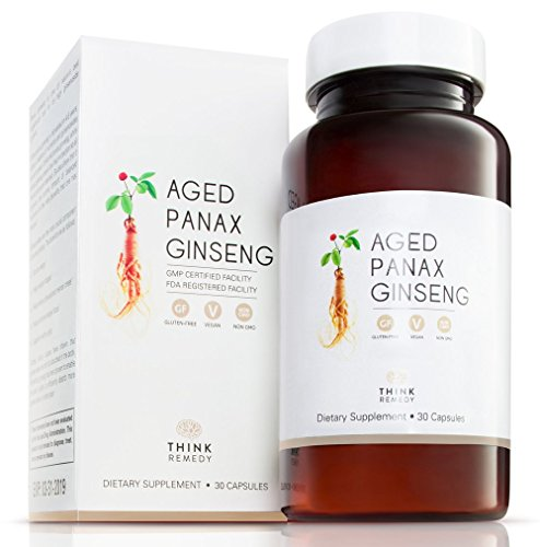 Korean Aged Panax Ginseng Capsules - Fast and Efficient Absorption - Ginseng Pills for Energy Boost and Stress Relief - 30 Capsules - Panax Ginseng Root Extract Supplement - Korean Ginseng - Korean White Ginseng