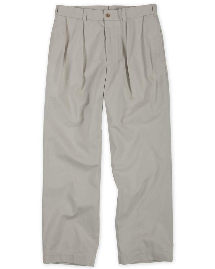 The Fine Swine Men's Bill's Khakis Original Twill M1 Pleated Pants 34 Cement