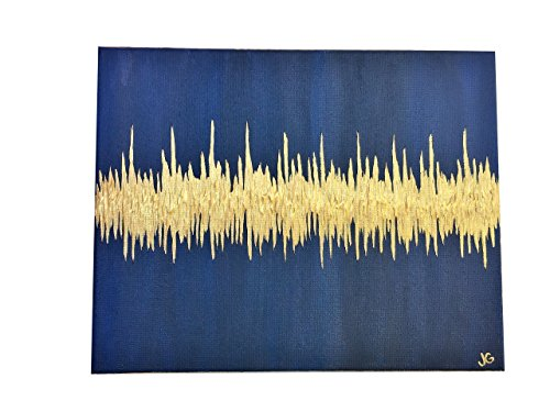 Nursery Painting of Baby Heartbeat from Sonogram or Ultrasound, Custom Abstract, 16''x20'' by Beats By Jenn