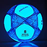 Adekale Sports Soccer Balls Traditional Soccer Balls Light-Up Soccer Ball Glow in The Dark Soccer Ball Youth a
