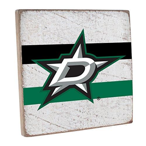 (Rustic Marlin Designs NHL Dallas Stars,White, Vintage Square, 12