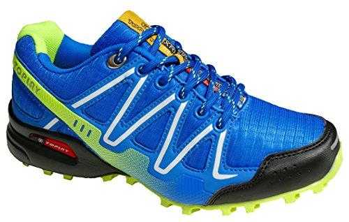 GIBRA® Sportschuhe, sehr leicht und bequem, blau/weiß/neongrün, Gr. 37