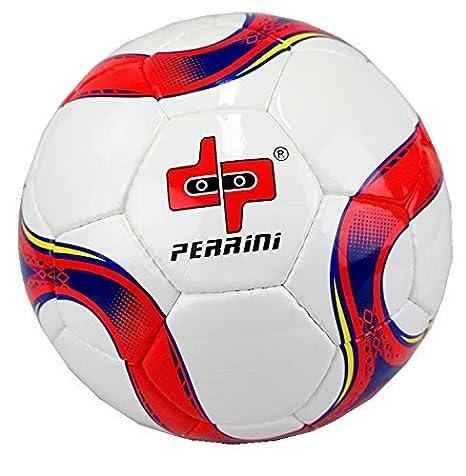 perrini Tamaño Oficial 5 Balón de fútbol rojo y azul: Amazon.es ...