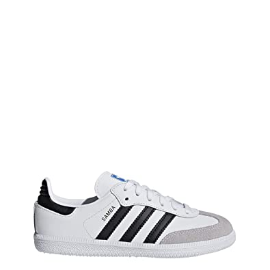 classic fit 38113 94b72 adidas Originals Kids Unisex Samba OG C (Little Kid) White Black 1 M