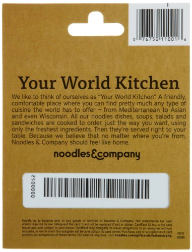 Amazon.com: Noodles & Company Gift Card $25: Gift Cards