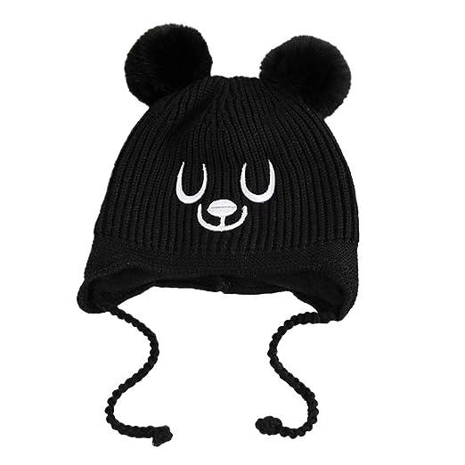 1ca139ad5b2 Lavany Baby Hats Little Boys Girls Beanie Winter Knit Earflap Kids Cap for  1-5