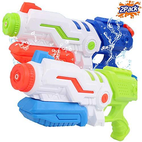 (Liberty Imports Max Burst Super Water Gun High Capacity 600ml Power Soaker Blaster - Kids Toy Swimming Pool Beach Sand Water Fighting (2 Pack))
