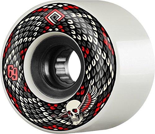 - Powell Peralta Snakes White / Black Skateboard Wheels - 69mm 75a (Set of 4)